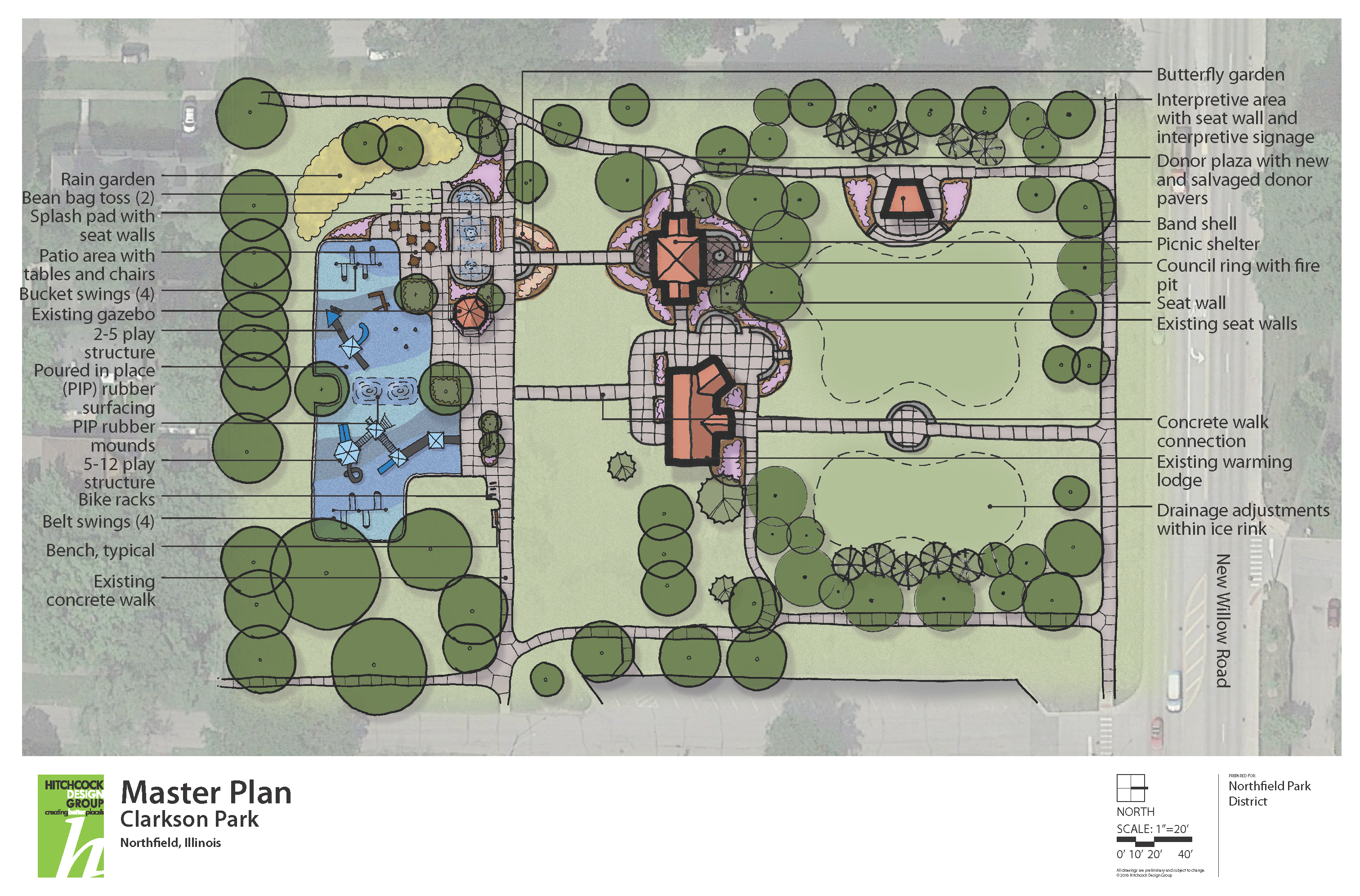 Clarkson Park Concept Drawing